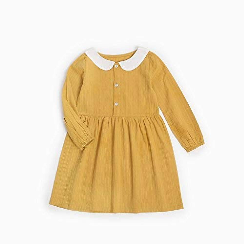 qighaima 韓国子供服 お姫様 ワンピース 女の子 ドレス ファッション パーティー 結婚式 衣類 幼児 コットン ファッション服3-4歳/ 110cm|KDW7112