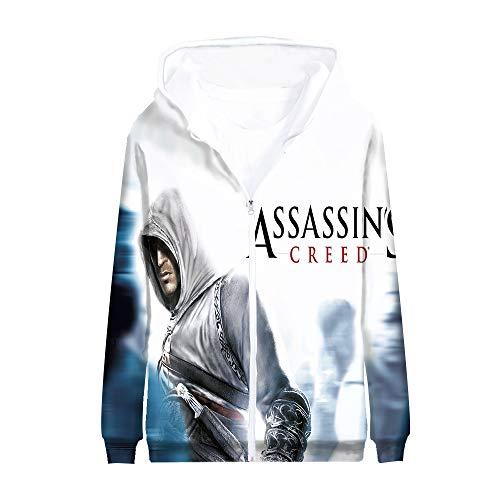Fgfkljkrelw Assassin's Creed Sweatshirt Dünne Abschnitt lose Art und Weise Hoodies-Mantel for Männer 3D-Farbdruck Personalisieren Jacke Assassin's Creed Pullover (Color : A06, Size : 175)