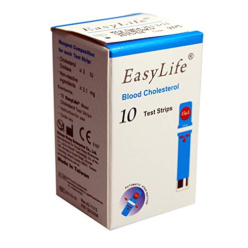 EasyLife Cholesterol Test Strips (10 Pcs/vial)