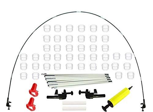 Tisch Luftballon Bogen Kit,Balloon Arch Stand,Ballonbogen Groß,Weiße Ballonbogen-Kit,Ballonbogen Girlande Kit,Ballon Arch Kit,Ballonbogen-Kit,Girlande Ballon Kit