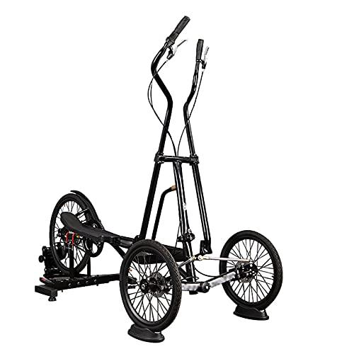 LZYLZF Bicicleta Estática, Bicicleta De Ciclismo Giratoria Vertical Plegable, Bicicleta Estática con Columpio para Interiores Y Exteriores, Máquina Elíptica para Caminar, Carga Máxima 300 Ibs
