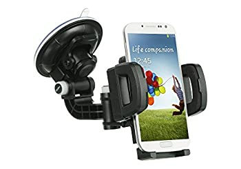 Mstechcorp - for ZTE ZMax Z970  T-Mobile MetroPCS  - Heavy Duty Universal Car Mount Mobile Phone Holder Touch Windshield Dashboard Car Mount Holder  CAR Mount
