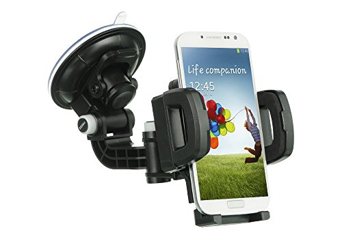 ZTE GRAND X3 Case, Heavy Duty Universal Car Mount Mobile Phone Holder Touch Windshield Dashboard Car Mount Holder for ZTE GRAND X3 (Z959) (Car Mount)