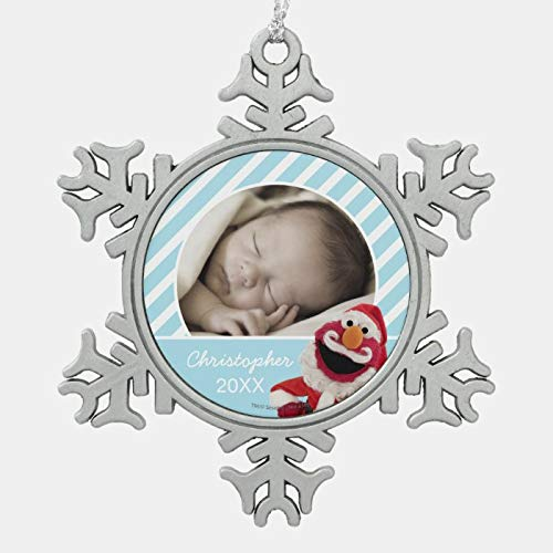 JamirtyRoy1 Christmas Ornament, Santa Elmo Add Your Name Snowflake Pewter Christmas Ornament, Xmas Tree Hanging Decorations, Home Decor, Keepsake Gift, 3 Inch Snowflake Ornament