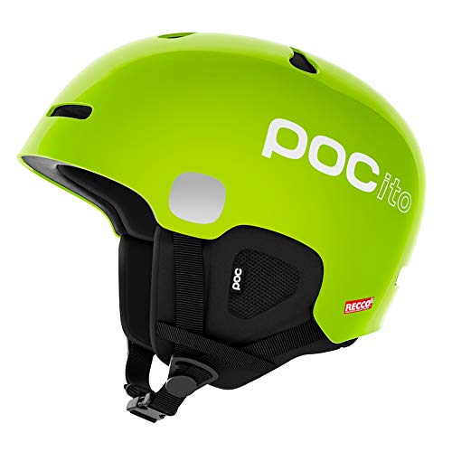 POC POCito Auric Cut Spin Helmet, Fluorescent Yellow/Green, X Small