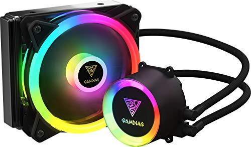 GAMDIAS Raff.Liquido CHIONE E2-120R 2*Fan ARGB Telecomando + SYNC Software
