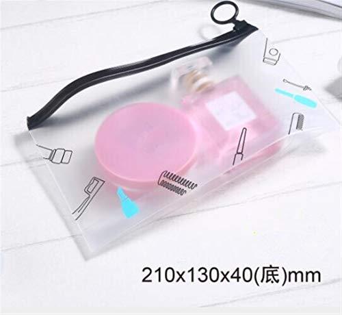 Femmes Sac cosmétique PVC transparent maquillage Sac de toilette Sacs brosse nécessaire bain cas Organisateur d'Wash Make Up Box (Color : Style 7 21x13x4cm)