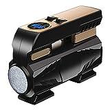 GAFEY Portable 12V Auto Elettrica Gonfiatore Pompa con 3 Metri di Lunghezza Esteso Cavo di Alimentazione con Luce LED