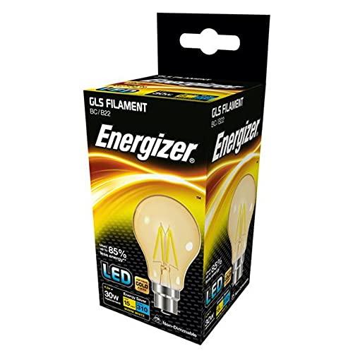 Energizer (S9429) Culot à baïonnette LED GLS Gold 35 W B22 Blanc chaud