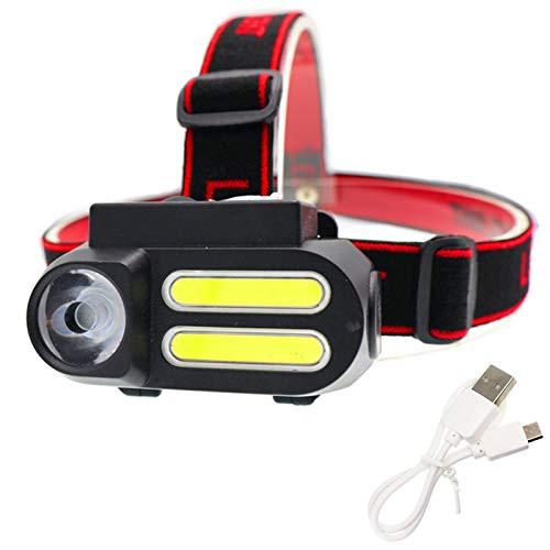 YANGMAN-L LED Recargable Linterna Frontal USB, Impermeable Brillante estupendo cómodo de Peso Ligero del Faro Correr Caminar Camping Lectura Senderismo Niños DIY y Más