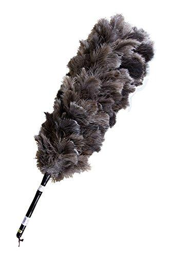 ESCI 【日本製】最高級の手造り毛ばたき! オーストリッチ羽毛の最高品質「ファーストクラス・フロスフェザー」を使用! 全長約103cm 専用ケース付 オーストリッチ毛バタキ M180