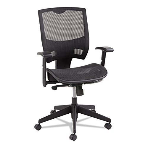 Alera Epoch Series All Mesh Multifunction Mid-Back Chair, Black
