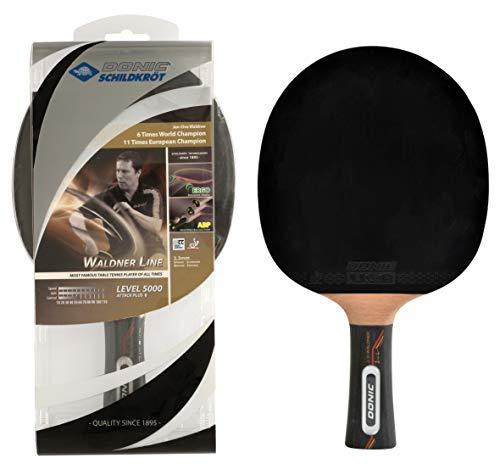 Donic-Schildkröt Tischtennisschläger Waldner 5000, ABP-Griff, 2,3 mm Schwamm, Carbonholz, Liga - ITTF Belag, 751805
