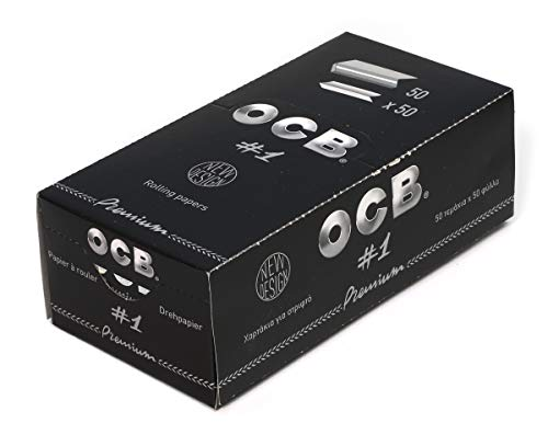 1 Box - OCB Single Premium No1 Rolling Paper Regular Size 70mm - 2500 Papers