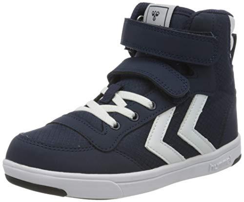 Hummel Unisex-Kinder Stadil Ripstop High Jr. Hohe Sneaker High-Top, Blau (Black Iris 1009), 28 EU