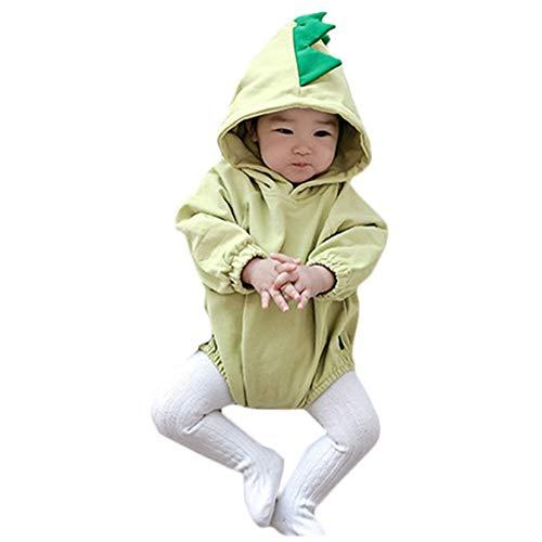 Het pasgeboren Meisje van de Baby Cotton Bodysuit effen kleur Hoodie Romper met lange mouwen zomer Jumpsuit voor 0-2 jaar