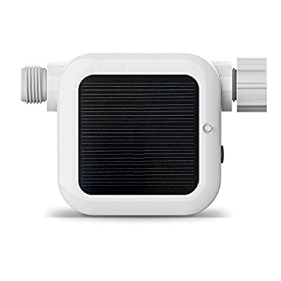 Netro Pixie Smart Hose Faucet Timer, WiFi, Solar Powered, Weather Aware, White