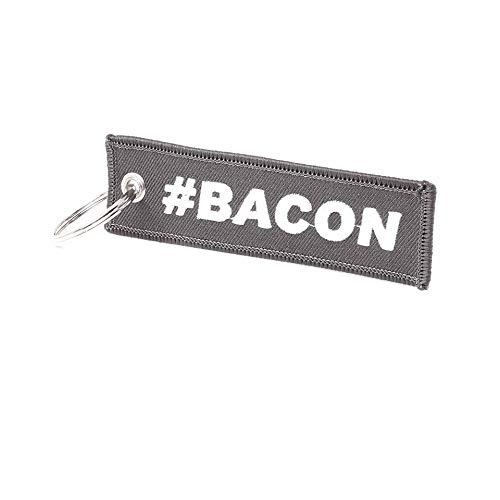 Bacon Schlüsselanhänger - Grau