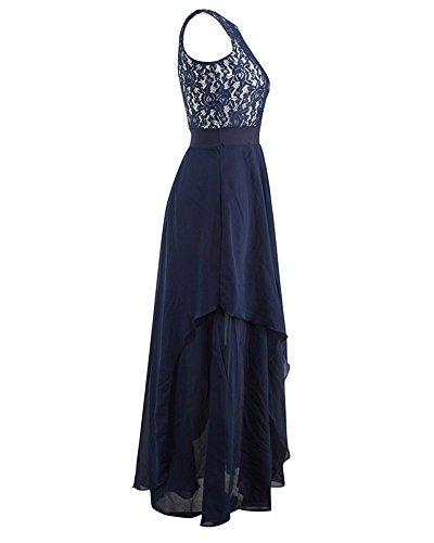 Larga Vestido de Mujer Elegante Encaje Sin Mangas Vestido de Fiesta Armada XL
