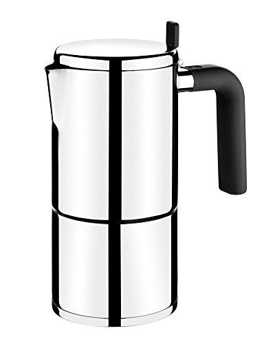BRA 170402 Bali Italienische Kaffeemaschine für 6 Tassen, Edelstahl