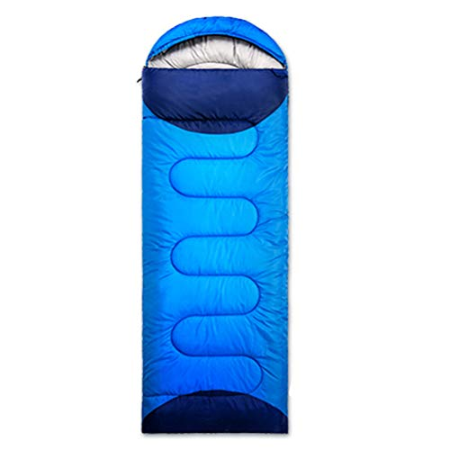 Nealpar Saco de Dormir Camping Ultraligero Impermeable 4 Estaciones cálido sobre Mochila Saco de Dormir para Viajes de Senderismo al Aire Libre,Blue,1.5kg