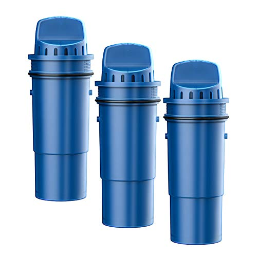 FilterLogic NSF Certified CRF-950Z Pitcher Water Filter, Replacement for Pur Pitchers and Dispensers PPT700W, CR-1100C, DS-1800Z and PPF951K, PPF900Z Water filter (Pack of 3)