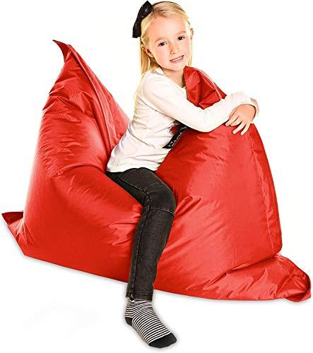 CEyyPD Descargas Digitales de Comprar Grandes Childrens-La Nube Jr. En Rojo-XL 120x100cm- Cubierta y jardín al Aire Libre de los niños Adolescente Gigante Bean Bag - Resistente al Agua - ENVÍO RÁPIDO