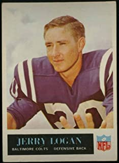 Jerry Logan Baltimore Colts 1965 NFL Football Trading Card (Philadelphia Chewing Gum) (#5)