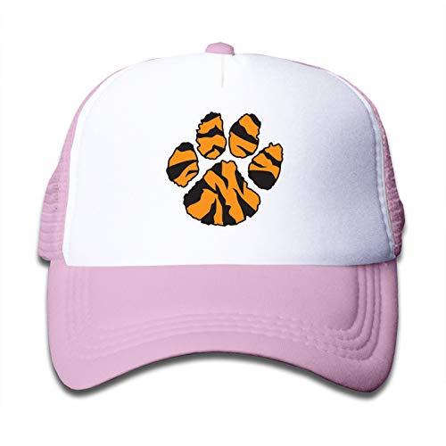 Whhfashion Tiger Paw - Gorro de sol ligero para niños y niñas, color rosa