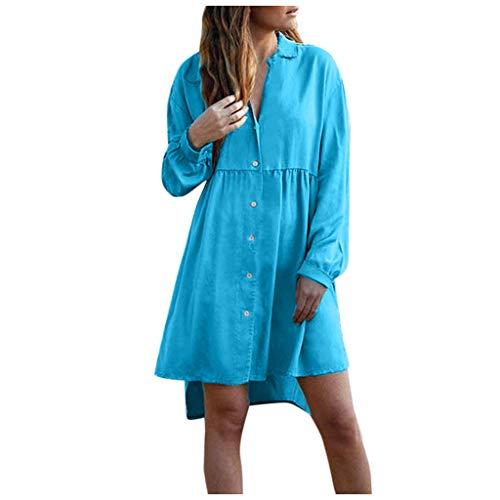 Realde-Vestito Elegante Donna Girocollo 3/4 Maniche Colore Patchwork Abito Boemo Stile Sciolto Moda Abbigliamento Partito Festa Spiaggia Casuale Vestiti