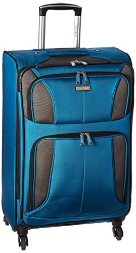 Samsonite Aspire Xlite Softside Expandable Luggage with Spinner Wheels, Blue Dream, Checked-Medium 25-Inch