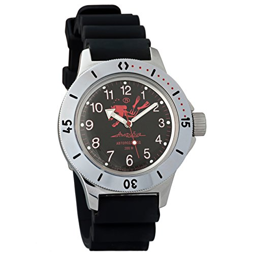 Vostok Amphibian 120657 - Reloj de pulsera para buzos militares rusos (2416B/2415, 200 m)