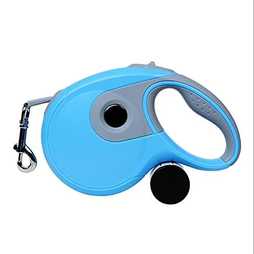WSYGHP Correa de 3 m, 5 m, 8 m, duradera, retráctil automática, extensión de cable para gatos, cachorros, caminar, correr, ruleta de plomo para perros (color: azul, tamaño: 3 m)