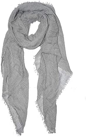 Cotton Linen Scarf Solid Color Long Wrinkled Classic Fashion Head Wraps Shawl for Women All product image