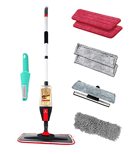 Floor Spray Mop Kit with 4 in-1 Function, Mop Set for Vinyl, Hardwood, Laminate, Marble, Tile...