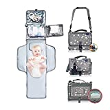 DASLING Llevar cambiador portátil para llevar pañal cambiador de pañales impermeable bebé equipo inicial pañal Pad bebé entrega regalo práctico bebé ayudante bebé entrega regalo