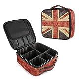 Bolsa de Maquillaje de la Bandera británica Union Jack, Bolsa de Maquillaje de Viaje, Impermeable, Desmontable, Bolsa organizadora de Maquillaje, Neceser portátil de Tela Oxford