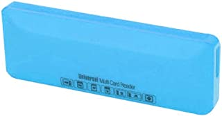 Trands Multi Card Reader With Micro USB Cable, Blue