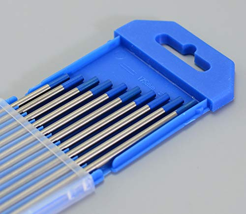"2.0% Lanthanated WL20 cielo azul de soldadura TIG electrodos tungsteno (3,2mm x 150mm &1/8""x6"", 10pk)"