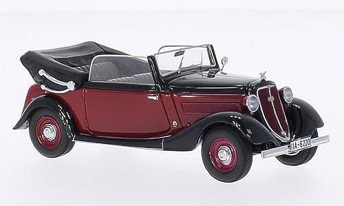 Wanderer W240 Cabriolet, Schwarzrot, 1935, Modellauto, Fertigmodell, Neo 1 43