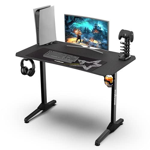 Outshine Gaming Echo Gaming Desk 111 cm x 60 x 75 cm con gestión de cables dedicada y ratón impermeable