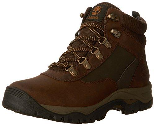 Timberland Women's Keele Ridge WP Leather Mid Winter Boot, Medium Brown Connection Full Grain, 8.5 M US