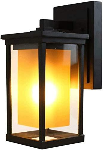 Lámpara de Pared Impermeable para Exteriores, lámpara de Pared LED Estadounidense, Carcasa de Aluminio, lámpara de Pared Externa de Vidrio para Pared, Utilizada en Jardines, porches, terrazas, pasill