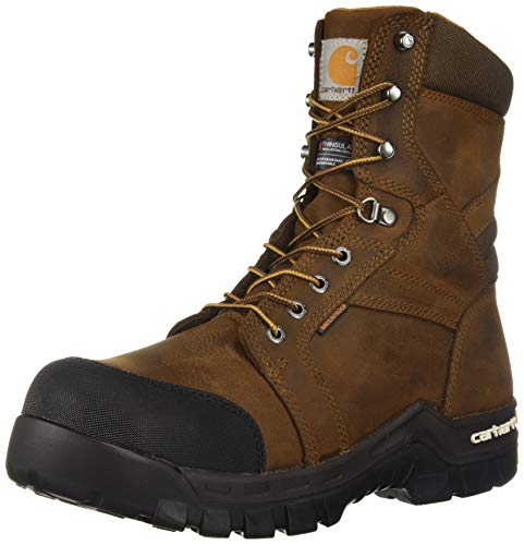 Carhartt Men's CSA 8-inch Rugged Flex Wtrprf Insulated Work Boot Comp Safety Toe CMR8939 Industrial, Dark Brown Oil Tanned, 12 W US