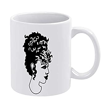 Glossy Ceramic Coffee Mug Coffee Mug Tea Cup,Natural Hairstyles Black Fantasy Tea Cup for Office and Home Funny Fathers Day Mugs for Men President