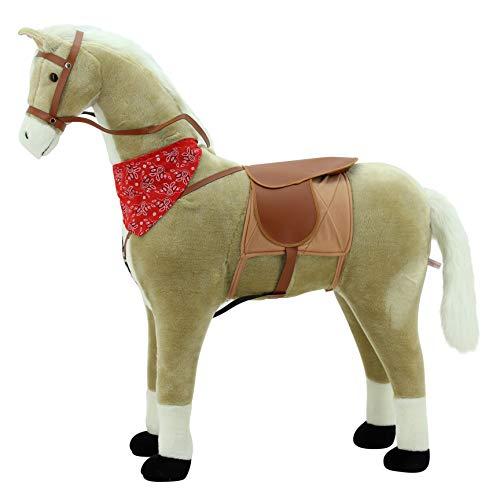 Sweety Toys 10363 Stehpferd Haflinger Reitpferd Standpferd beige mit weißer Mähne