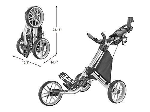 CaddyTek Caddylite EZ V8 – EZ-Fold 3 Wheel Golf Push Cart