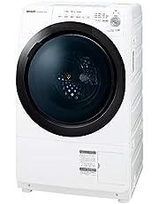 シャープ ドラム式 洗濯乾燥機 ヒーターセンサー乾燥 左開き(ヒンジ左) 洗濯7kg/乾燥3.5kg ホワイト系 幅640mm 奧行600mm DDインバーター搭載 ES-S7