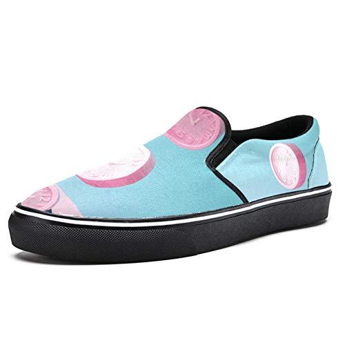 Tizorax - Zapato plano de lona con tres relojes de alarma para mujer y niña, color Multicolor, talla 37 EU