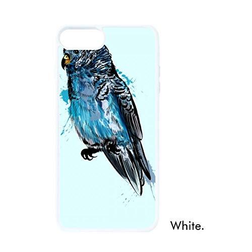 DIYthinker zwart blauw papegaai vogel wit Phonecase Apple Cover Case cadeau